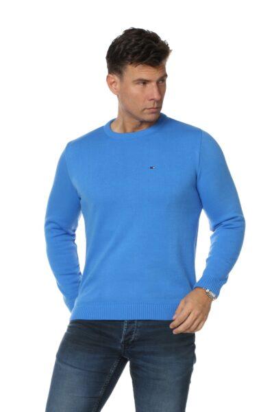 Sweter JOHN błękitny