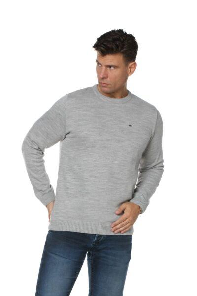 Sweter JOHN jasny szary