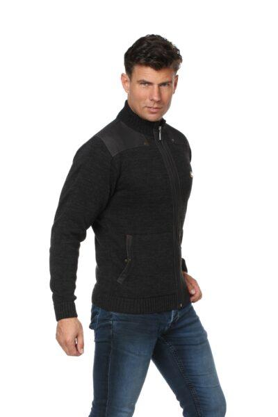 Sweter LUCAS ciemny szary