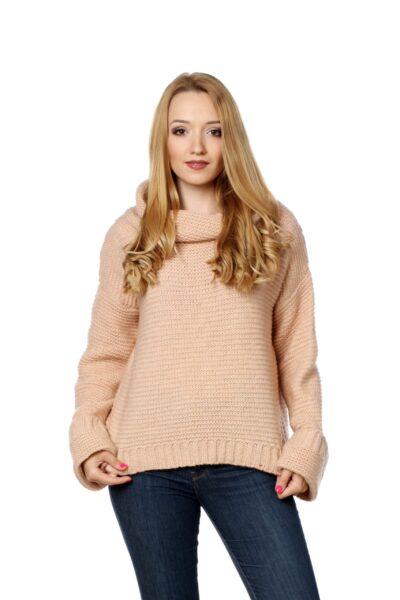 Sweter AMANDA morelowy