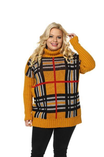 Sweter ASHLEY musztardowy