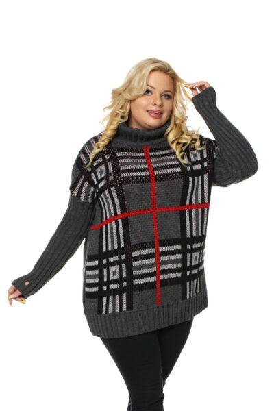 Sweter ASHLEY ciemny szary
