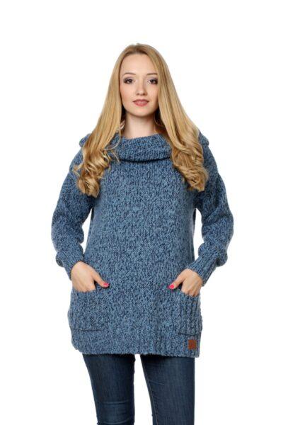 Sweter BELLA błękitny