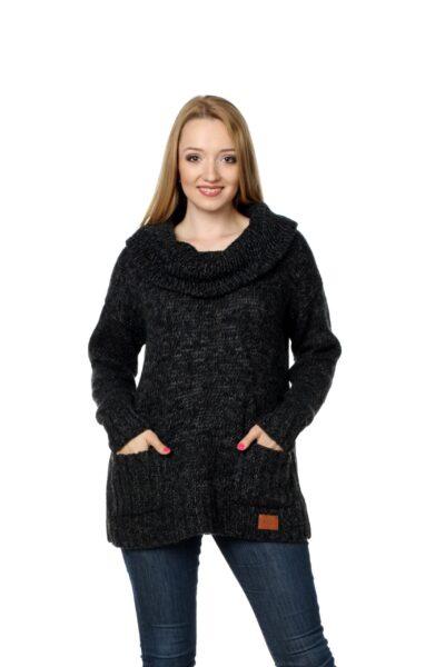 Sweter BELLA ciemny szary
