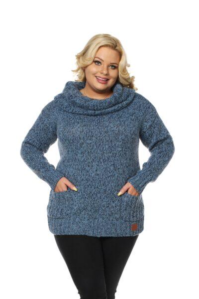 Sweter BELLA SIZE błękitny
