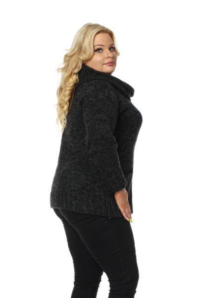 Sweter BELLA SIZE ciemny szary