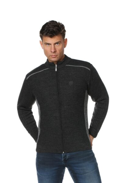 Sweter CASH ciemny szary