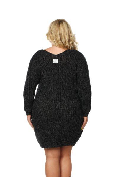 Sweter CATRINE SIZE ciemny szary