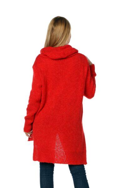 Sweter CHANEL czerwony