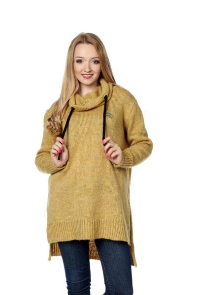 Sweter CHANEL musztardowy