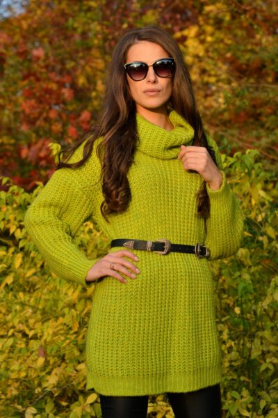 Sweter CLAUDIA limonkowy