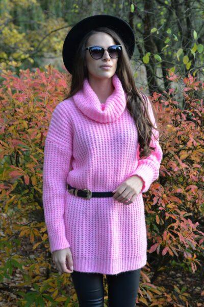 Sweter CLAUDIA różowy