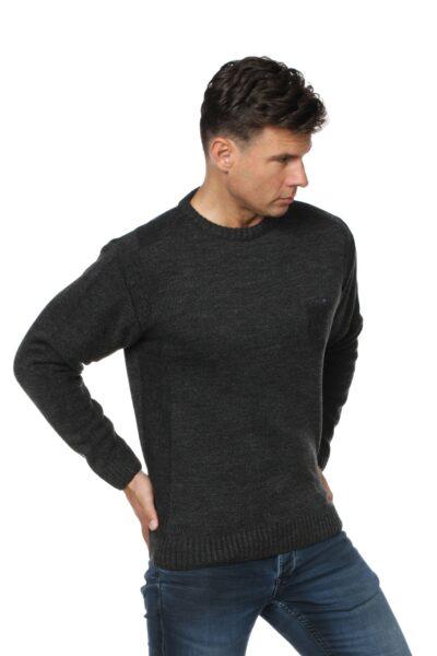 Sweter CREW ciemny szary