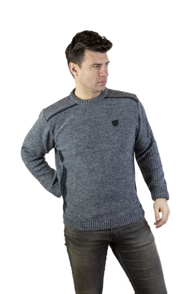 Sweter DAVID szary