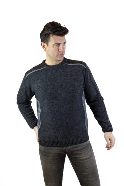 Sweter DAVID ciemny szary