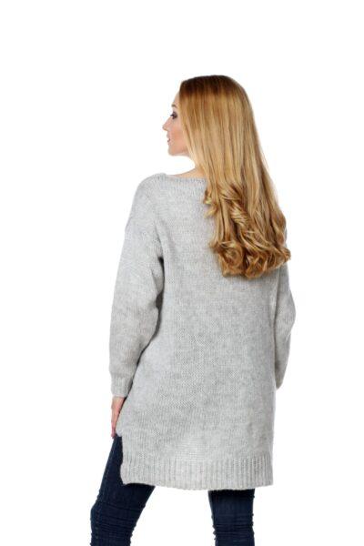 Sweter FUN jasny szary