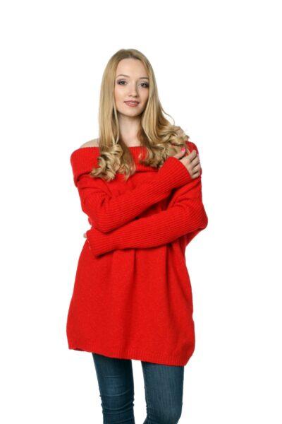 Sweter HONEY czerwony