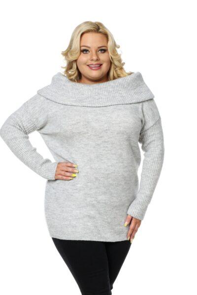 Sweter HONEY SIZE jasny szary