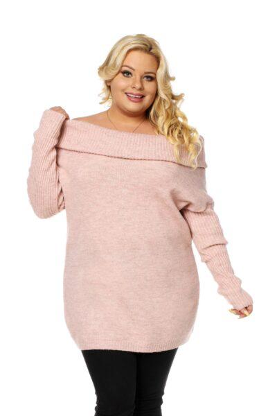 Sweter HONEY SIZE różowy