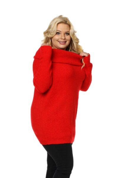 Sweter HONEY SIZE czerwony