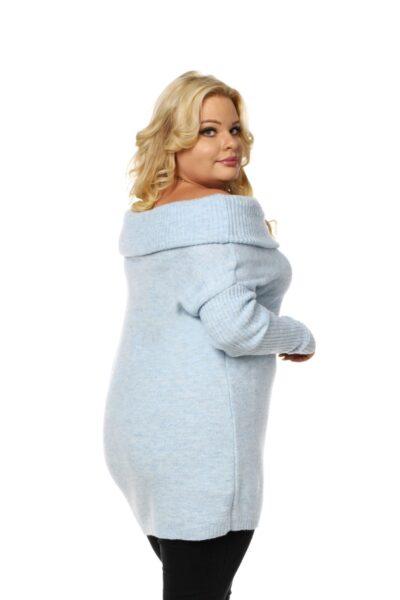 Sweter HONEY SIZE błękitny