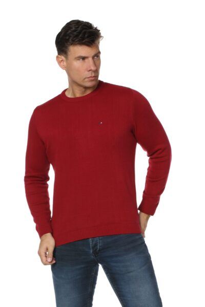 Sweter JOHN bordowy