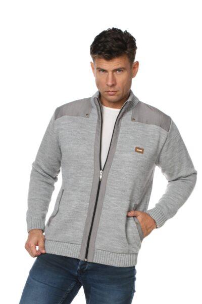 Sweter LUCAS jasny szary