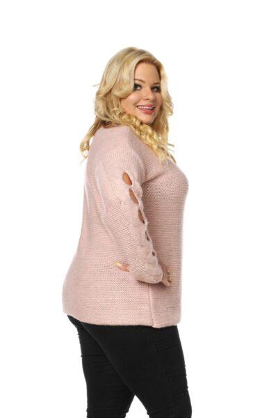 Sweter LUISE SIZE różowy