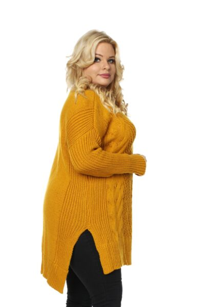 Sweter LUKRECJA musztardowy