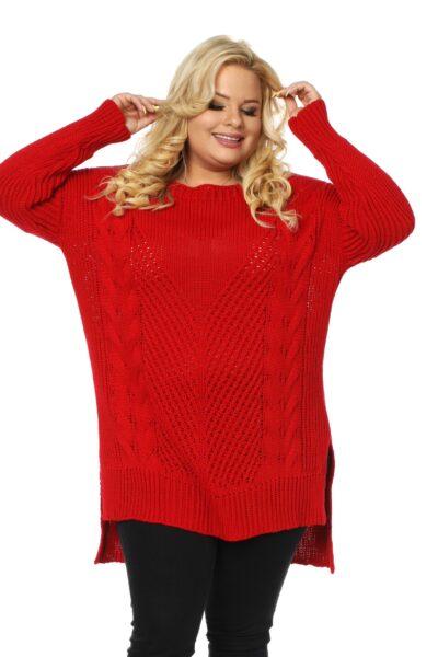 Sweter LUKRECJA czerwony