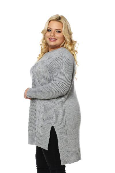 Sweter LUKRECJA jasny szary