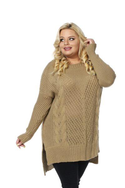 Sweter LUKRECJA brązowy