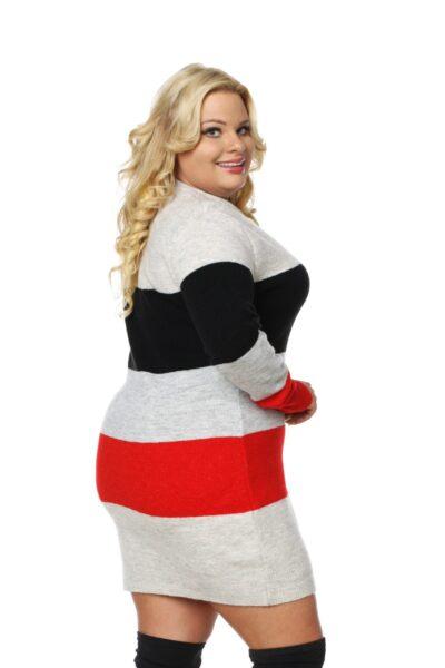 Sweter SUSAN SIZE czerwony