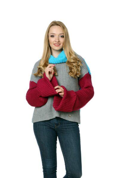 Sweter ROSE bordowy