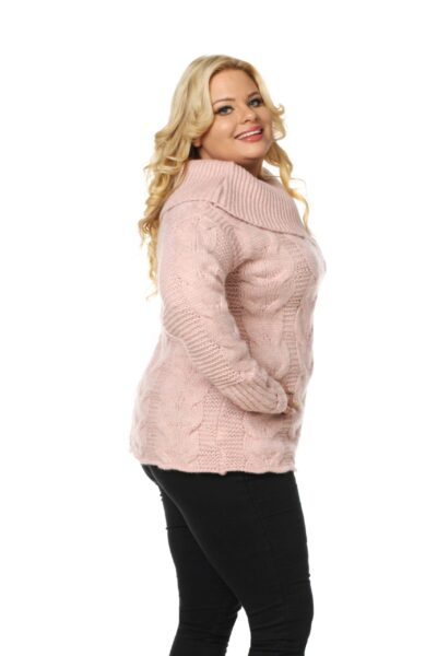 Sweter SISI SIZE różowy