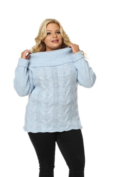 Sweter SISI SIZE błękitny