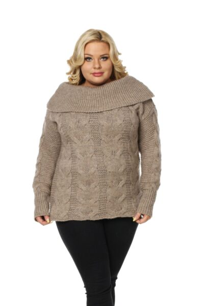 Sweter SISI SIZE beżowy