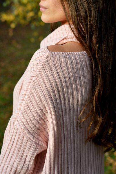 Sweter WITNEY pudrowy róż